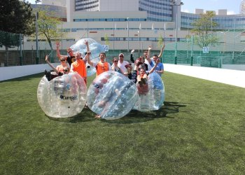 bubble soccer vienna group activity